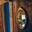 Studio 1 connecting door with mirror